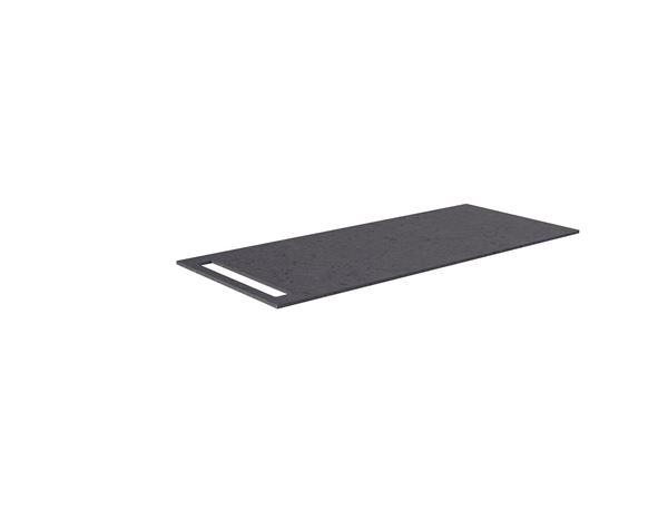 Bilde av Benkeplate HPL med håndkleholder, sort antrasitt