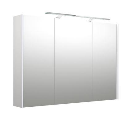 Bilde av Speilskap med lys, hvit matt