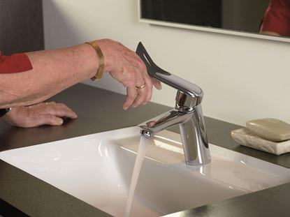 Bilde av Clover Easy ergonomisk hendel for 2362300- servant, krom/sort