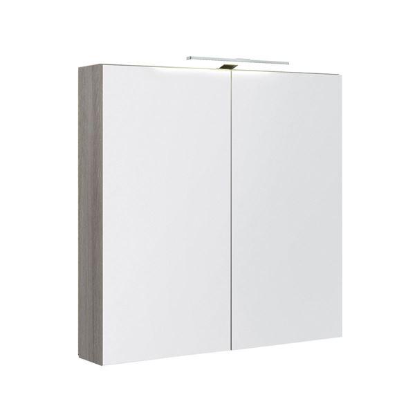 Bilde av Speilskap med lys, grå ask
