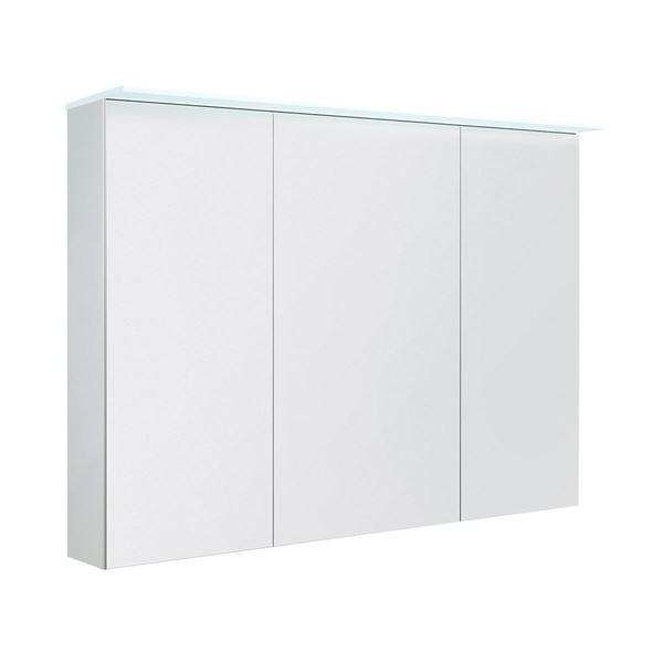 Bilde av Speilskap med lystopp, hvit matt