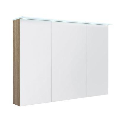 Bilde av Speilskap med lystopp, grå eik
