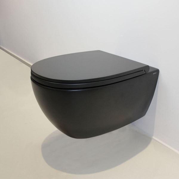 Bilde av 4All toalettsete m/soft close sort matt