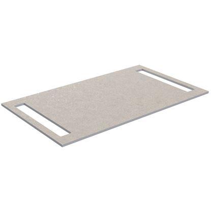 Bilde av Benkeplate  HPL med håndkleholder begge sider, sandfarget